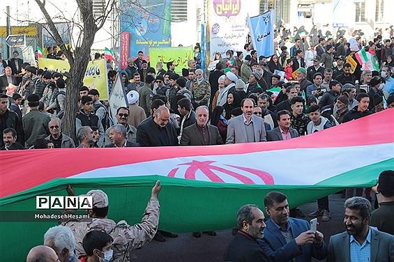 راهپیمایی با شکوه 22 بهمن در شهرستان بیرجند