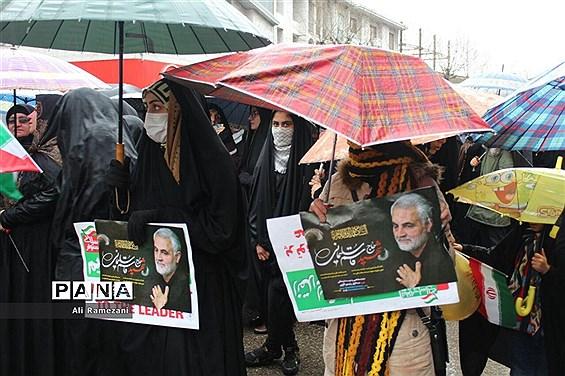 راهپیمایی روز 22 بهمن در قائمشهر