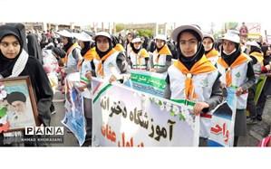 راهپیمایی یوم الله ۲۲ بهمن در لالی برگزار شد