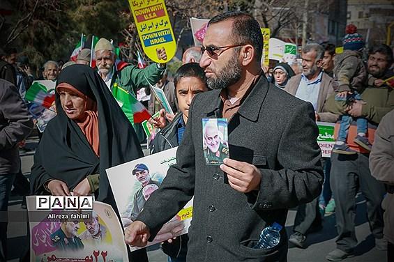 اربعین سردار شهید حاج قاسم سلیمانی همزمان با راهپیمایی چهل و یکمین سال پیروزی انقلاب اسلامی