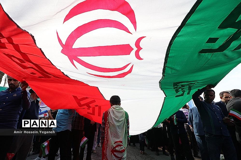 راهپیمایی 22 بهمن در جزیره کیش