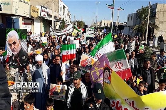 راهپیمایی 22 بهمن در دلوار