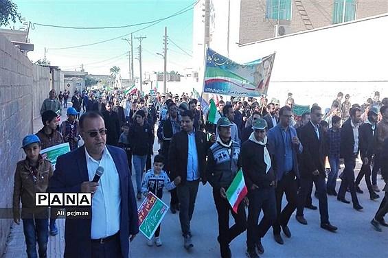 راهپیمایی  22 بهمن در شبانکاره  بوشهر