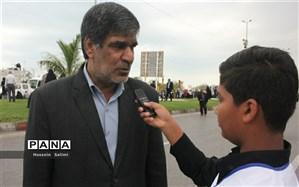 فرهنگیان و دانش آموزان هرمزگان با حضور در راهپیمایی یوم الله ۲۲بهمن حماسه آفریدند