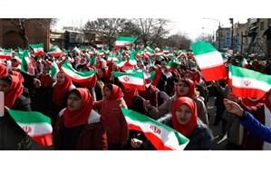 حضور گسترده دانش آموزان، فرهنگیان و کارکنان آموزش و پرورش کردستان در راهپیمایی یوم الله 22 بهمن