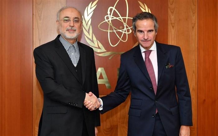 دیدار علی اکبر صالحی با رافایل گروس مدیر جدید آژانس بین امللی انرژی اتمی