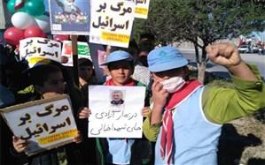 راهپیمایی 22 بهمن در آب پخش برگزار شد