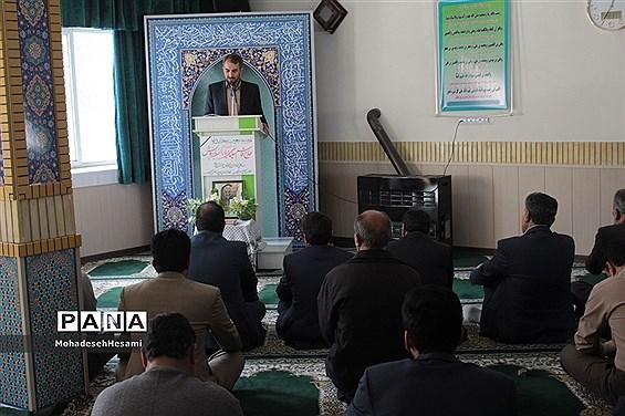 مراسم اربعین شهادت سردار دلها در آموزش و پرورش استان