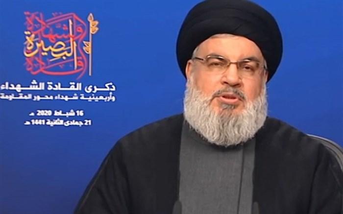 دبیرکل حزب الله: هیچ گزینهای جز مقاومت نداریم/ تحریم کالاهای آمریکا بخشی از نبرد است