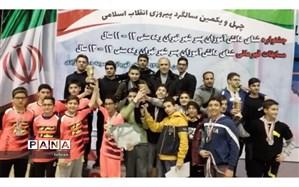 تیم شنای پسران رده سنی 13 و 14 سال منطقه 7 قهرمان شهر تهران