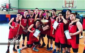 کسب مقام قهرمانی مسابقات بسکتبال پسران مقطع متوسطه دوره دوم منطقه 8