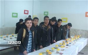 دانش آموزان دبیرستان معارف سامان  در نمایشگاه گیاهان دارویی