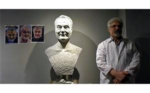 ساخت سردیس سردار سلیمانی در جشنواره فجر+ عکس