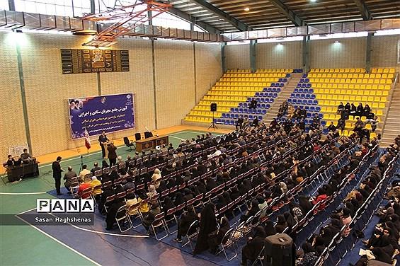 نشست آموزش جامع 2 هزار نفری  مجریان  انتخابات شهرستان اسلامشهر