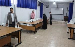 آماده سازی محل شعب اخذ رأی سازمان دانش آموزی قزوین