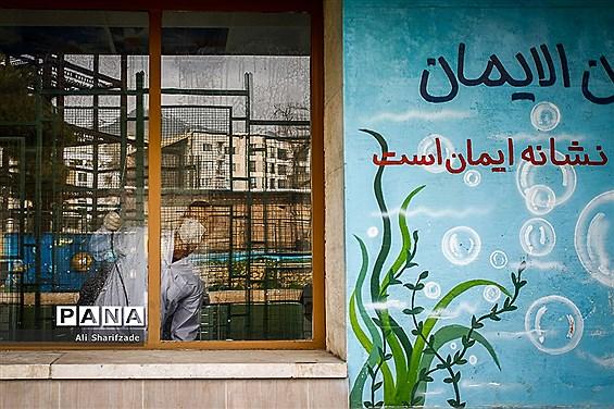 ضدعفونی مدارس با اولویت مدارس حوزههای اخذ رای استانهای کشور
