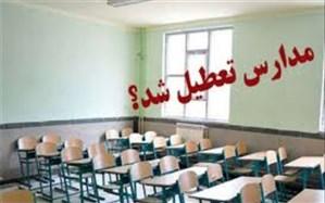مدارس البرز تا پایان هفته جاری تعطیل شد