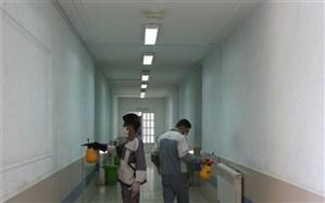 خوابگاههای ۱۳ دانشکده فنی و حرفهای استان فارس ضدعفونی شدند
