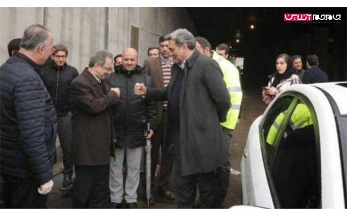 دست دادن ضد کرونایی شهردار و استاندار تهران!