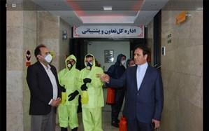 روزانه ساختمانهای ستادی وزارت آموزش و پرورش ضدعفونی و گند زدایی میشود