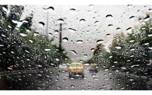 بارش باران در محورهای چهار استان