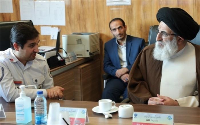 بازدید امام جمعه کرج از اورژانس