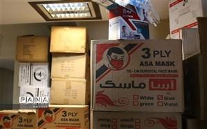 کشف ۵۸۰ هزار ماسک احتکار شده در غرب تهران