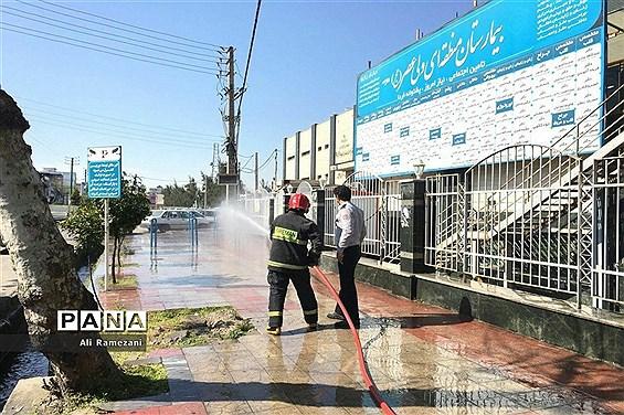 ضدعفونی معابر و اماکن شهری در قائمشهر