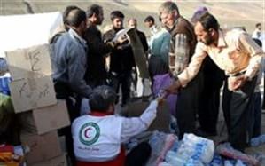 توزیع اقلام غذایی رایگان در مناطق زلزله زده قطور
