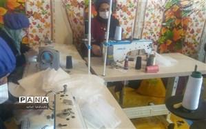 آغاز بکار خط تولید ماسک های بهداشتی یکبار مصرف در کارگاه خیاطی  توان خواهان بهزیستی شهرستان امیدیه