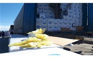 جلوگیری از صادرات ۱۳۷ تن دستکش بهداشتی از مرز بازرگان