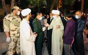 آیت الله صفایی بوشهری در محل برگزاری مانور هماهنگی مقابله با بیماری کرونا در بوشهرحضور یافت