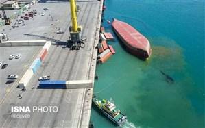 پایان موفقیت آمیز عملیات خارج سازی کشتی واژگون شده SL-STAR در بندرشهیدرجایی