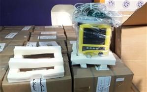 75 دستگاه تنفسی به بیمارستانهای مازندران تحویل داده شد