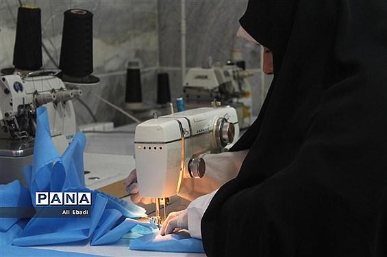 راهاندازی کارگاه تولید ماسک در قرارگاه شهید دکتر قاسمی قم