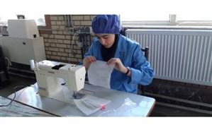 تولید روزانه ۱۵٠٠ عدد ماسک توسط هنرجویان هنرستان الزهرا شهرستان مشگین شهر