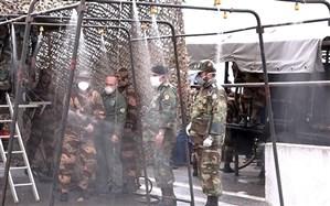 ادامه کمک رسانی ارتش در گیلان در جنگ با کرونا