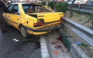 تصادف ۵ وسیله نقلیه صبح امروز در اتوبان آزادگان