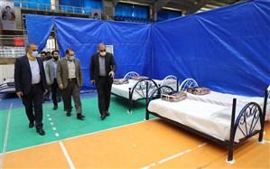 پایش میزان آمادگی نقاهتگاه ۱۰۰ تخت خوابی بیماران مبتلا به کرونا