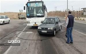 خودروهای ورودی به تایباد ضدعفونی میشوند