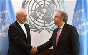 ظریف و دبیر کل سازمان ملل درباره مبارزه ایران با کرونا تبادل نظر کردند