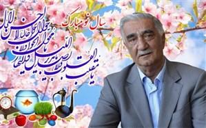 پیام نوروزی رئیس مجمع خیرین مدرسه ساز شهرستان های استان تهران