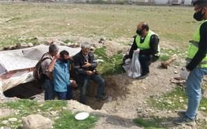 توزیع اقلام بهداشتی پیشگیری از بیماری کرونا در مناطق و محلات پر خطر و آسیب زای استان البرز