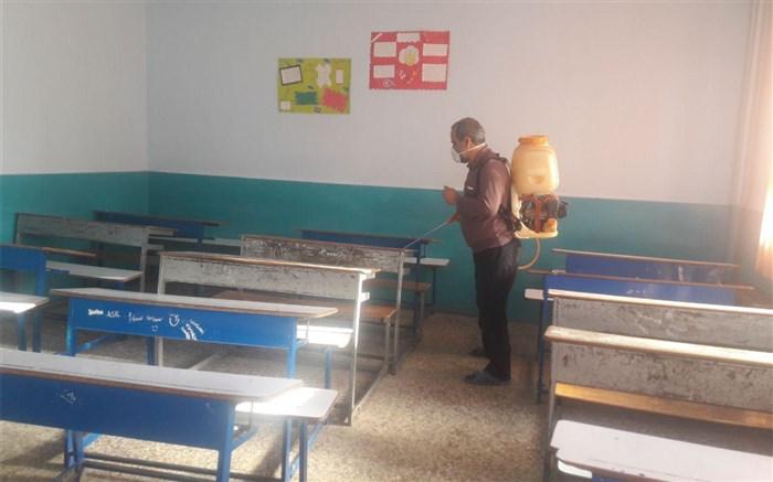ضدعفونی بیش از 200 مدرسه در تالش