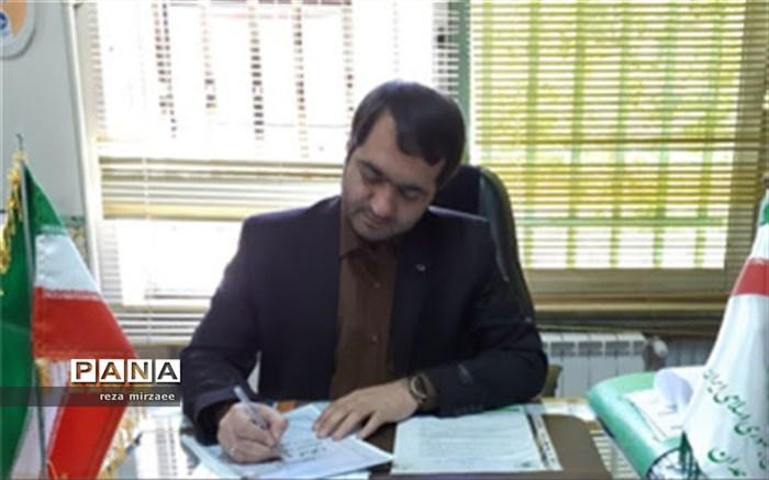 مهندس رضا میرزایی  رییس سازمان دانش آموزی استان همدان