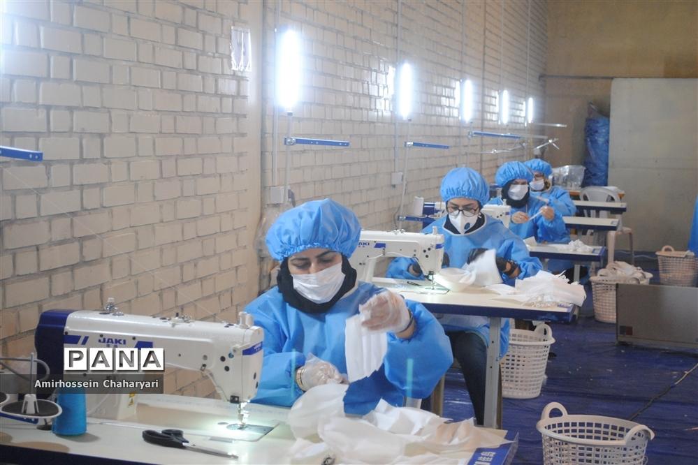 کارگاه تولید ماسک و گان محافظتی در تایباد