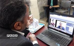 ویدیو کنفرانس مدیرکل آموزش و پرورش قزوین با دانش آموزان تاکستانی