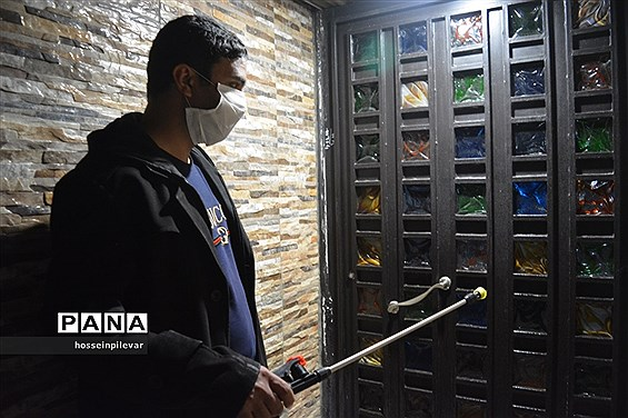 ضدعفونی معابر و سطح شهر در بیرجند