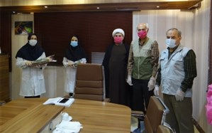 تجلیل گروه جهادی ایثارگران بدون مرز از رزمندگان مدافع سلامت بیمارستان شهدای خلیج فارس بوشهر