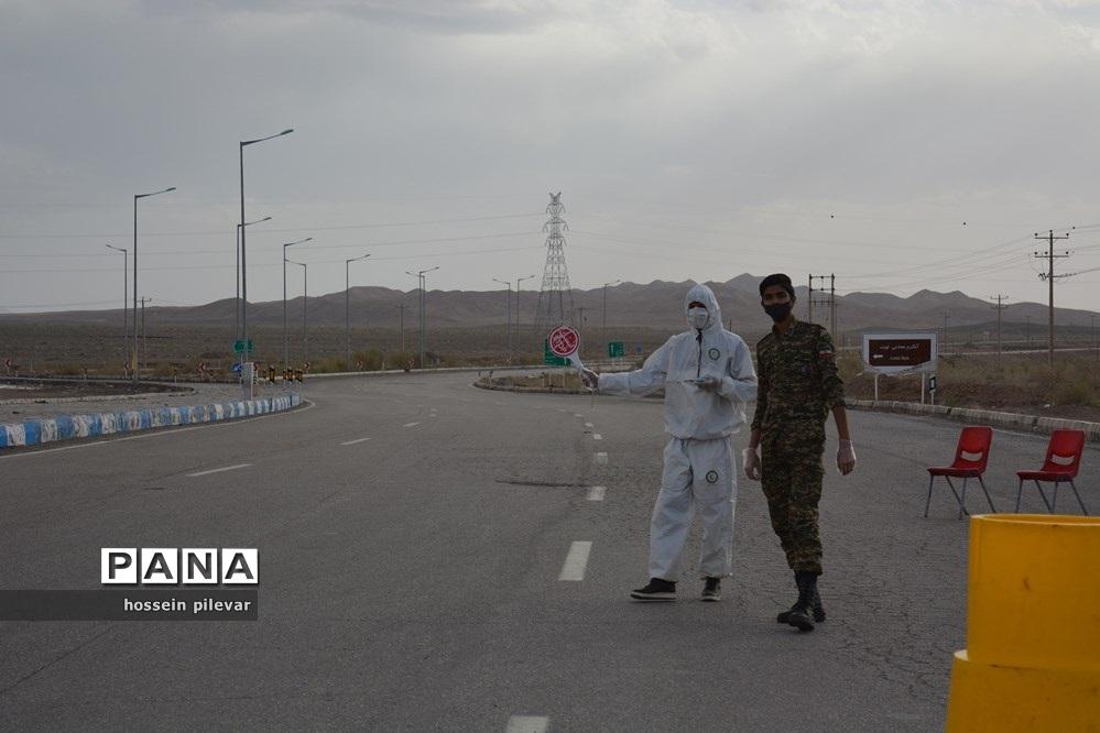 کنترل راه های ورود و خروج در شهرستان خوسف